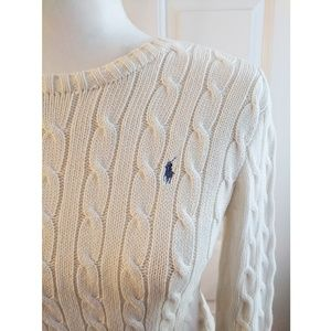 Ralph Lauren | cream cotton cable knit sweater
